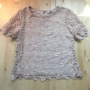 Blush Crochet Top